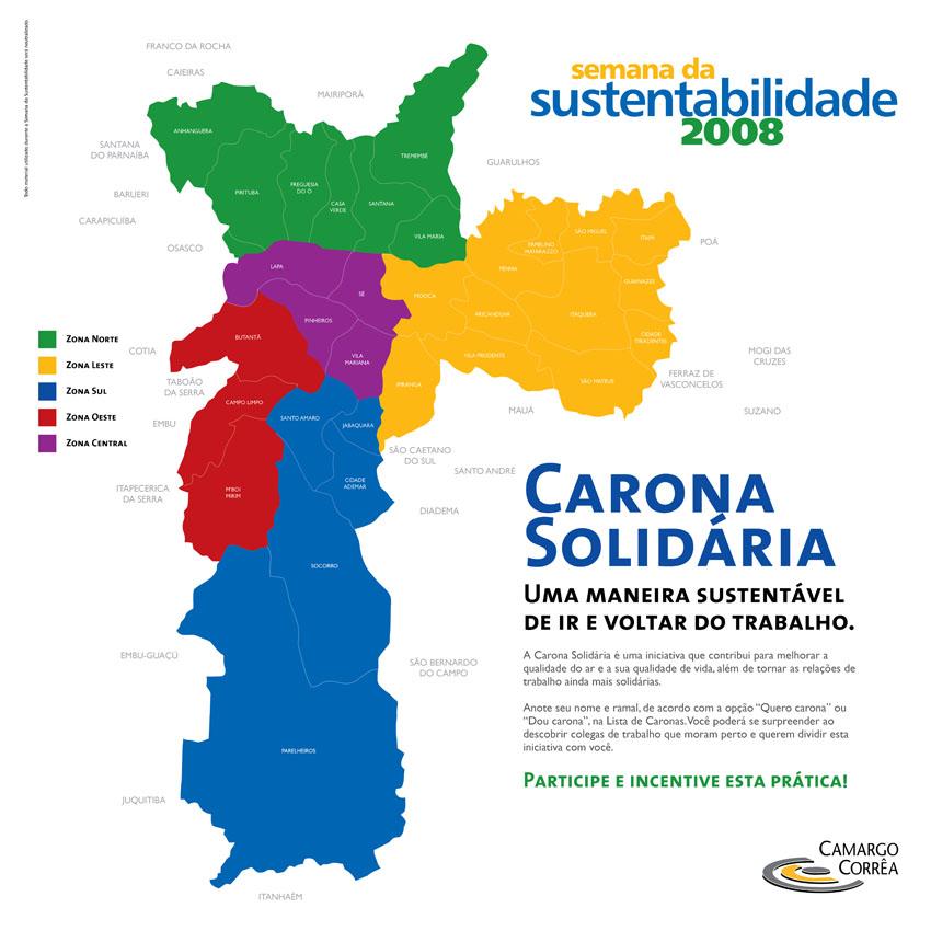 """Painel interativo do projeto """"Dou Carona versus Quero Carona"""" na Semana da Sustentabilidade"""