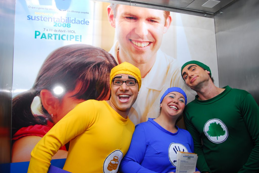 Ações de comunicação interna e sustentabilidade no Grupo Camargo Corrêa: pré-evento com atores para reforçar os pilares da sustentabilidade