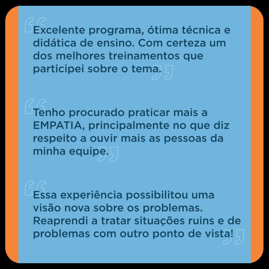 Feedback da liderança que participou do Programa de Desenvolvimento de Líderes no Grupo Aço Cearense