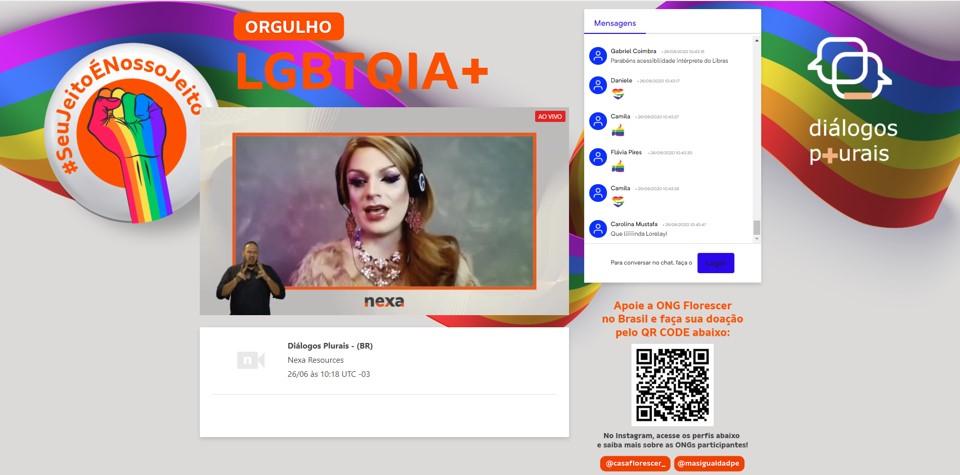 Lorelay Fox em sua participação no evento Diálogos Plurais.